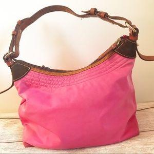 Dooney & Bourke Bags - Dooney & Bourke Pink Nylon Shoulder Hobo Bag
